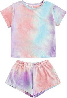 Toddler Girl Outfits Short Sleeve Lace Top+Ripped Denim Shorts 2PCS Girl Summer Jeans Pant Set/…