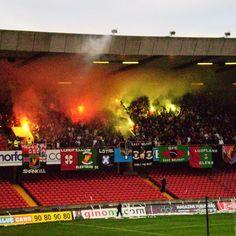 Glentoran fans showing flare #linfield #glentoran #football #fans