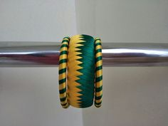 Yellow n Geen silk thread Bangles Silk Thread Jhumkas, Silk Thread Bangles Design, Silk Bangles, Thread Jewellery, Thread Art, Embroidery Thread, Diy Jewelry, Jewelry Design, Jewelry Making