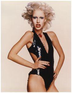 Chris von Wangenheim Donna Jordan in sequined bodysuit, circa 1977