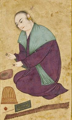 A Safavid Portrait of a Sufi in the Style of Muin Musavvir, Iran; 1600.    Visit www.rumisgarden.co.uk to shop for our Islamic crafts. #Islam #Sufism #Esoterism #Mysticism #Spirituality #God #Religion #Allah #Islamicshop #Sufishop #Kiswah #kiswa #Qajar #iran