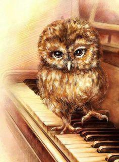 "Zhui Star DIY Diamond Painting ""piano owl"" Embroidery Full Square Diamond Cross Stitch Rhinestone Mosaic home decor Gift Cross Paintings, Animal Paintings, Composition Photo, Owl Embroidery, Mosaic Kits, Diamond Art, Diamond Cross, 5d Diamond Painting, Baby Owls"