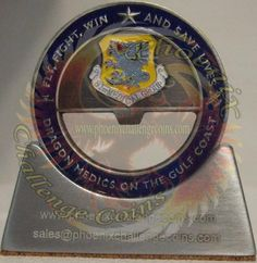 81st Medical Group air force coin, Custom Challenge Coin by Phoenix Challenge Coins