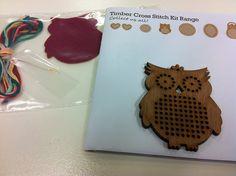 CheeKeeLee: Timber Cross Stitch Owl Brooch