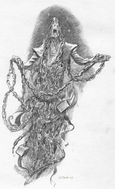 Jacob Marley's ghost by scifo on DeviantArt Jacob Marley, Christmas Carol, Catholic, Deviantart, Drawings, Artist, Ghosts, Shadows, Sketch
