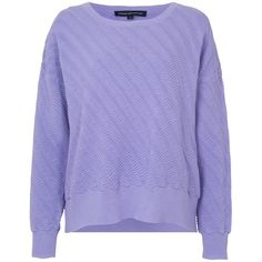 French Connection Miami Mozart Jumper , Salon ($27) ❤ liked on Polyvore featuring tops, sweaters, jumper, purple, salon, lightweight sweaters, french connection sweaters, pattern sweater, cotton crop top and print sweater