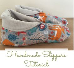 ~ Sew a pair of slippers??? WELL....they do look cosy!                                                                                                                                                                                 More