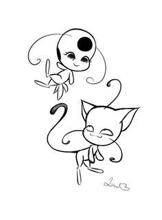Plagg Tikki Sketch By Lillpetal On DeviantArt