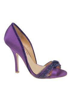 Badgley Mischka River High Heel Sandal In Purple