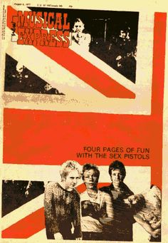 """Four Pages of Fun with the Sex Pistols"". Cover design for ""New Musical Express"", August, 1979."