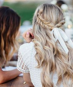 Spring Hair Trends Long Hair Looks Trends for long hair braids for long hair how to do my hair what to do with my hair long hair ideas ideas for long hair style boho bohemian wavy hair Braided Hairstyles For Wedding, Up Hairstyles, Pretty Hairstyles, Braided Updo, Bridal Hairstyles, Wedding Hair Down, Hair Day, Gorgeous Hair, Hair Looks