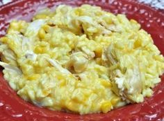 Crockpot Cheesy Chicken and Rice Recipe | Just A Pinch Recipes