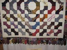 Artful Ties: Bowtie Quilt Pattern with men's ties