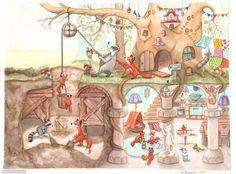 by Birgit Boley (I alway knew animals had multi-room homes.)