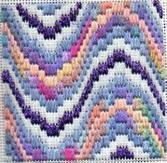 bargello needlepoint reversi design by janet perry