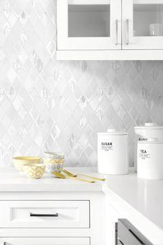 White Backsplash Tile White Kitchen Quartz Countertop