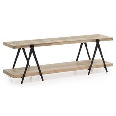 Het industriële Morgan L houten tv-meubel wordt gekenmerkt door zijn minimalistische ontwerp, waardoor dit model duidelijk opvalt te midden van andere tv-meubels. De twee planken zijn gemaakt van solide mangohout en hebben een warme uitstraling. Ze rusten op vier stevige zwarte ijzeren poten. Het MORGAN L tv-meubel is 51 cm hoog, 160 cm breed en 45 cm diep, waardoor u veel ruimte hebt om naast de tv en andere appartuur het tv-meubel leuk aan te kleden. Als alternatief voor dit model hebben…