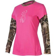 Browning® Women's Camo Layered Long-Sleeve Long-Sleeve Tee Shirt