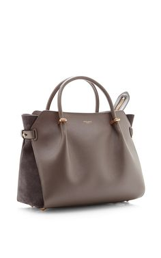 Marche Leather and Suede Tote Bag by Nina Ricci