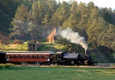 1880 Train in Hill City, SD--very pretty trip.  The route is from Hill City to Keystone and back.  The depot has an extensive choo-choo shop.