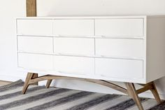 7 Creative Ways to Give New Life to Old Furniture | Apartment Therapy Although it might be a little more work, I couldn't help including this dresser from Sarah M Dorsey Designs. She painted a vintage piece and added new legs that she cut from a piece of 1x8 lumber. Doesn't it look fantastic?