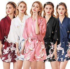 Plus Size Bridesmaid, Bridesmaid Robes, Wedding Night Dress, Summer Wedding, Mix And Match Bikini, Silk Satin, Designer Dresses, Dressing, Gowns