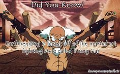 Gonna need to learn me some hung gar is I can feel like toph