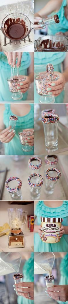 ice cream shooters. Must do this for bill's surprise birthday party (obviously sub in alcoholic milkshakes :))
