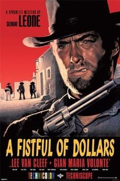 Clint Eastwood A Fistful of Dollars Film Movie Poster Print Wall Art Large Maxi