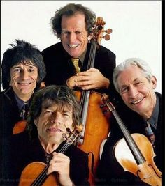 The Rolling Stones String Quartet Mick Jagger Rolling Stones, Los Rolling Stones, Like A Rolling Stone, Rock N Roll, Rock And Roll Bands, Greatest Rock Bands, Best Rock, Classical Music Humor, Charlie Watts