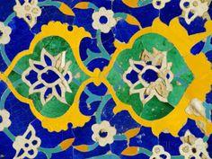 Ceramic Detail, Tilla Kari Madressa, Registan Square, Samarkand, Uzbekistan, Central Asia Photographic Print by Upperhall Ltd at AllPosters.com