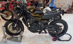 Custom Honda CB500 'S' Scrambler Motorcycle + CBR Parts = THIS! | SEMA 2016! | Honda-Pro Kevin