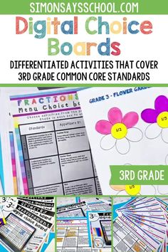 These 3rd grade math common core resources are a great way to provide student choice while teaching math standards that address measurement, multiplication and division, and other important math concepts. They are digital resources, so they can easily be used for distance learning, or while teaching math in your third grade classroom. #3rdgrademath #iteach3rd #3rdgradecommoncore #commoncoremath