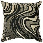 Jet Cushion -Grey / Black Linen