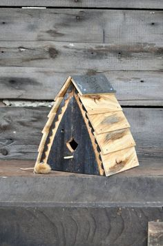 Unique Birdhouses Outdoor Birdhouse Reclaimed Wood Bird House #birdhouseideas