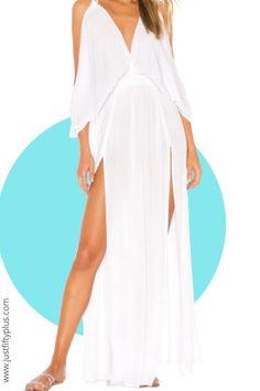 White Cover Up Beach Dress from Beach to Bar Outfit #affiliatelink #beachwear #bathingsuits #beachvibes #beachoutfits #beachaccessories Summer Dresses For Women, Summer Outfits, White Cover Up, Bathing Suit Cover Up, Beachwear For Women, Cold Shoulder Dress, One Piece, Bar, Formal Dresses