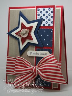 "** July 4th  ""Thankful for Veterans"" Card @WickedlyWonderfulCreations"