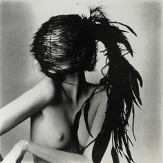 """""""Chanel Feather Headdress"""" - Vogue photography by Irving Penn, courtesy of the Fraenkel Gallery"""
