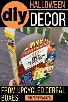 Learn how to craft your own DIY Halloween Tombstones using upcycled cereal boxes and add a faux graveyard to your outdoor Halloween decorations! Miami Beach, South Beach, Halloween Tombstones, Halloween Graveyard, Outdoor Halloween, Halloween Crafts, Halloween Party, Halloween Bedroom, Halloween Ideas