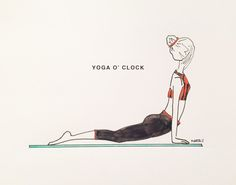 YO:GA by Marta Scupelli • www.stripe-me.com English Words, Yoga, Sport, Fitness, Poster, Design, Yoga Tips, Posters, Sports