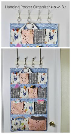 If you love sewing, then chances are you have a few fabric scraps left over. You aren't going to always have the perfect amount of fabric for a project, after all. If you've often wondered what to do with all those loose fabric scraps, we've … Wand Organizer, Wall Pocket Organizer, Fabric Organizer, Hanging Organizer, Sewing Hacks, Sewing Tips, Sewing Tutorials, Sewing Ideas, Leftover Fabric
