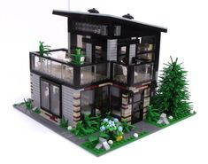 Check out my latest and greatest modern mansion LEGO MOC! Easy Minecraft Houses, Lego Minecraft, Lego Friends, Instructions Lego, 3d House Plans, Lego Creative, Lego Construction, Futuristic City, Modern Mansion