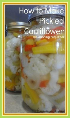 This easy pickled cauliflower can be made ahead of time to take to picnics and barbecues. No canning required!