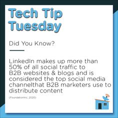 #LinkedIn is the largest business-oriented networking website geared specifically towards professionals. It allows you to showcase your profile, expertise, recommendations and connections, and also demonstrates your credibility in your industry. #TechTipTuesday #marketing #PPC
