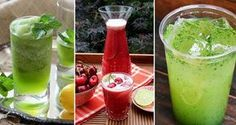 12 tipů na limonády, které Vás osvěží v horkém letním počasí | NejRecept.cz Smoothie Detox, Smoothies, Natural Make Up, Summer Drinks, Hot Sauce Bottles, Drinking, Beverages, Food And Drink, Remedies
