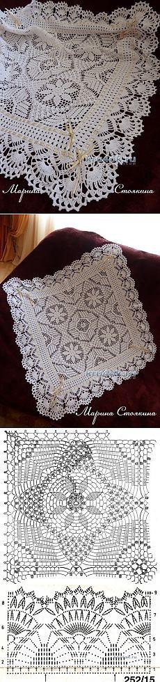 Openwork crochet blanket - the work of Marina Stoyakin - Crochet at kru4ok.ru