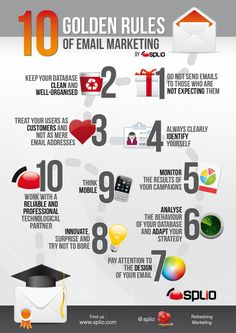 10 Golden Rules Of Email Marketing #infographic