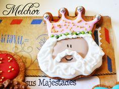 Galleta melchor. Galletas reyes magos