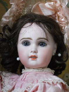 ~~~ Lovely French Bisque Bebe Jumeau Girl Size 8 ~~~ from whendreamscometrue on Ruby Lane