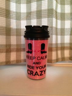 Keep Calm And Hide Your Crazy Travelers Mug. $8.00, via Etsy.